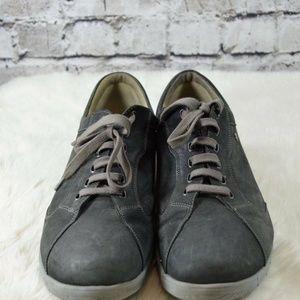 Finn Comfort Chennai Dark Gray Nubuck Sneakers